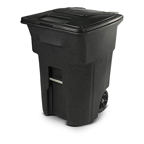 Toter 96 Gal. Trash Can Blackstone with Wheels and Lid (96 Gallon, - Six Pack Tote