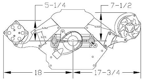 Nueva Billet Specialties BBC pulido cartucho de alternador a/c compresor soportes,, Montaje lateral, para Big Block Chevy corto Bomba de agua: Amazon.es: ...