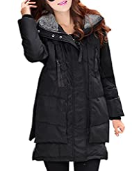 Azbro Women's Winter Long Sleeve Thickened Hooded Down Coat