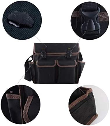 MISLD Multifunction Tools Bag Large Capacity, Reasonable Space Allocation Wear-Resistant And Waterproof 600D Polyester Material Suit for Maintenance Worker,39cm
