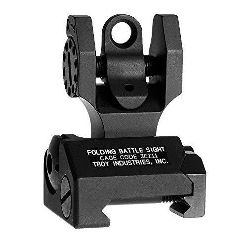Troy Industries Folding Battle Sight Rear (Black) - Levers Cross Top