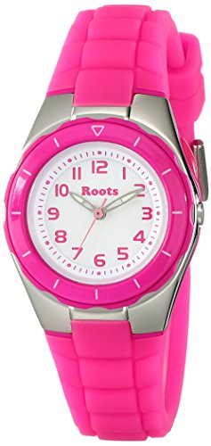 Roots Women's 1R-AT425FU1F Saturna Pink Plastic Watch (Roots Canada Watch)