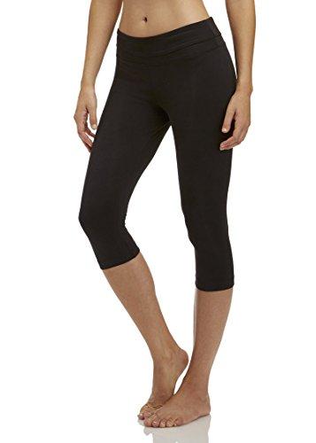 Marika Women's Ava Performance Slim Legging Capri 18-Inch Inseam, Black, Medium