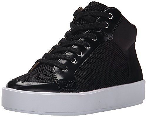 Nine West Women's Verona Fabric Fashion Sneaker, Black/Multi, 38 B(M) EU/6 B(M) UK