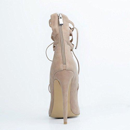 Kolnoo - Pantuflas de caña alta Mujer color carne