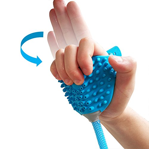 NACHEN Shower Sprayer For Dogs Cat Outdoor Pet Bathing Massage Tool,Blue by NACHEN (Image #2)