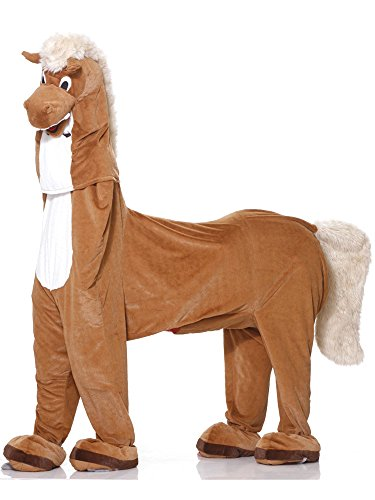 Forum Novelties Men's Two Man Horse Adult Costume, Brown, Standard -