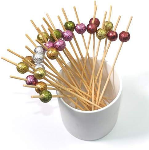 PuTwo Cocktailspieße Toothpicks Party Supplies 100 Count 12.5cm - Mehrere Farben