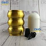 Lamp Base - 50units/pack E27 110V/220V three layers quality gold brass finished aluminum plastic CE/UL lamp socket/vintage lamp holder E27 - (Base Type: UL)
