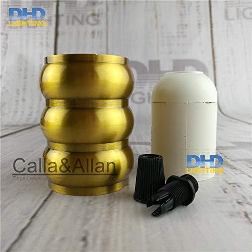 Lamp Base - 50units/pack E27 110V/220V three layers quality gold brass finished aluminum plastic CE/UL lamp socket/vintage lamp holder E27 - (Base Type: UL) by Kamas (Image #1)