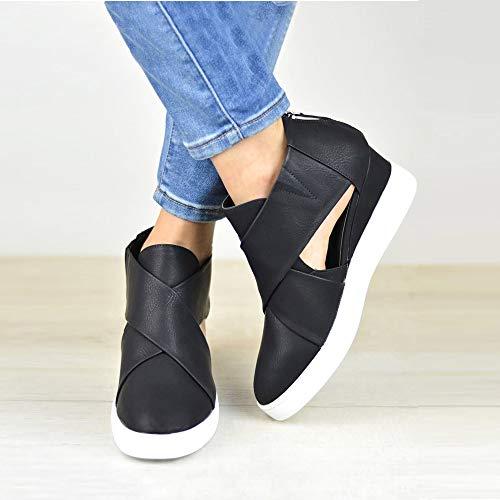 Hueco Ora Paolian O Se Para Nobuk Oto Cu Talla Mujer Cuero Ayuda Zapatillas Invierno Cmodos Grande De Vestir A Moda Zapatos Dama Negro 2018 Casual Calzado Plataforma ACxHTwqn