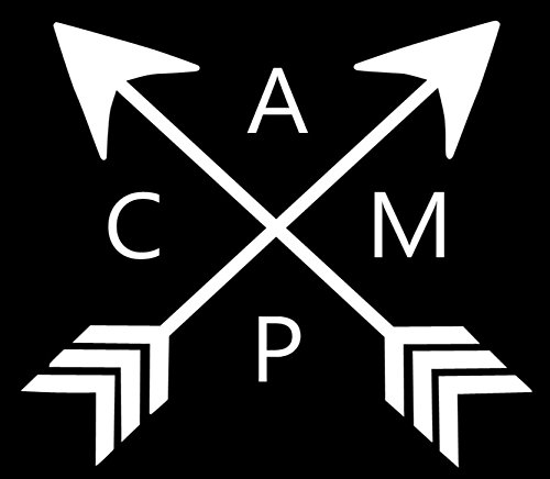 """Camp Crossed Arrows Decal- {WHITE} 5"""" Sticker - RV for sale  Delivered anywhere in USA"""
