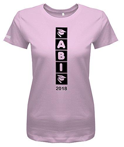 Abi 2018 Balken Runter - Abitur - Damen T-Shirt Rosa