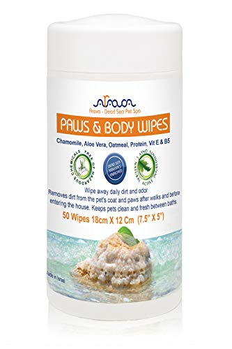 - Arava Natural Dog & Cat Grooming Wipes - Pet Cleansing Wipes for Dogs Cats Puppies Kittens - for Paws & Body - Remove Dirt Dust & Odors - Gentle Cleansing & Deodorizing Formula - 50 Count (7.5