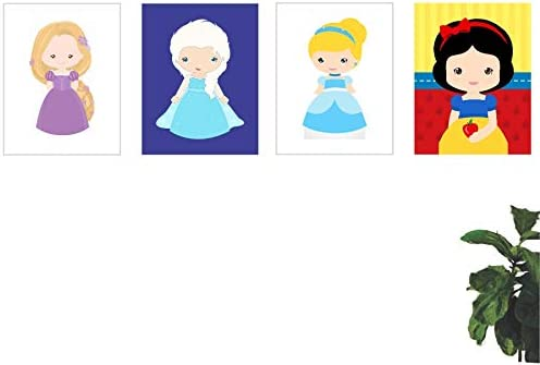 Cqudros Princesas Da Disney Infantil Desenho 50x40 4uni Amazon