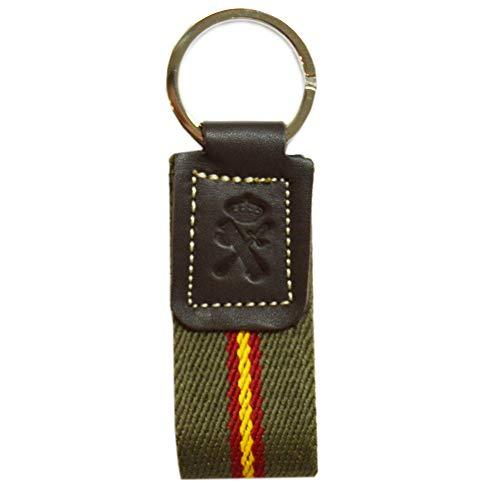 Llavero Guardia Civil Tira loneta Verde con Bandera de ...