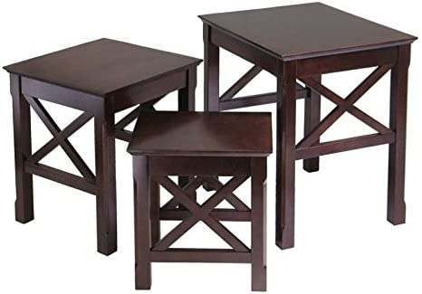 Pemberly Row Nesting Table Set in Cappuccino Finish