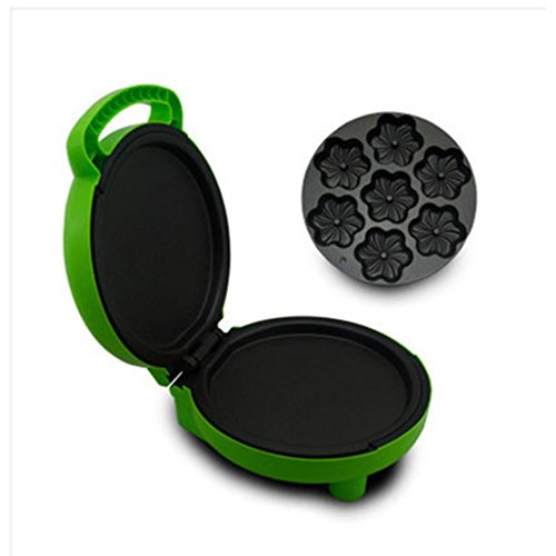 Household Cake Machine Multifunction Automatic Double-Sided Grilled Machine Mini Electric Baking Pan , green by miaomiao (Image #1)
