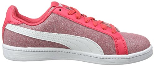 Puma Unisex-Kinder Smash Glitz Glamm Jr Sneaker Pink (Paradise Pink-Puma White)