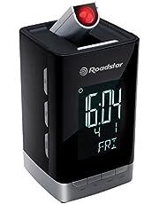 Roadstar CLR-2496P klokradio (projectie, kalender, datum, batterijback-up, dual wekfunctie)