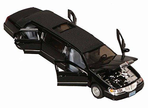 1999 Lincoln Town Car Stretch Limousine, Black - Kinsmart 7001DK - 1/38 Scale Diecast Model Toy Car, but NO ()