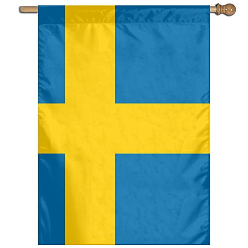 Flag of Sweden 100% Polyester House Flag Decorative Garden Flag Yard Banner Garden Flags 27x37