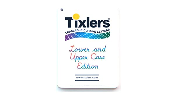 Amazon.com: Tixlers Traceable Cursive Letters Lower and Upper Case ...
