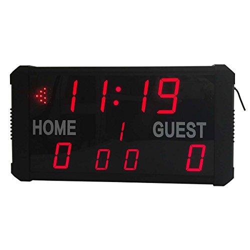 Ledgital Indoor Electronic Sports Scoreboard 19''x10'' SNB01 Remote Control Operation by Ledgital