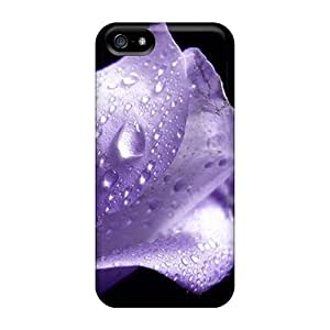 New Premium Flip Purple Rose Skin Case For Samsung Note 4 Cover