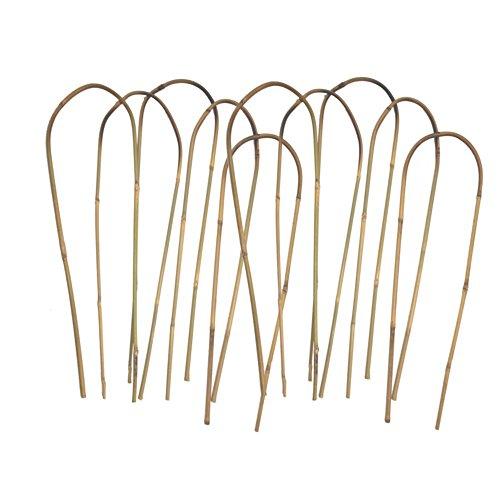 24 in. Bamboo U Trellis Hoop Stakes (10 Pack) ()