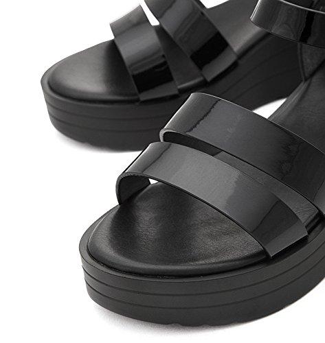 tacco casual Nero donna a piatti Sandali Pantofole con basso Sandali basso estivi DHG da 38 Sandali moda tacco alti Tacchi alla InqzxwZ8H