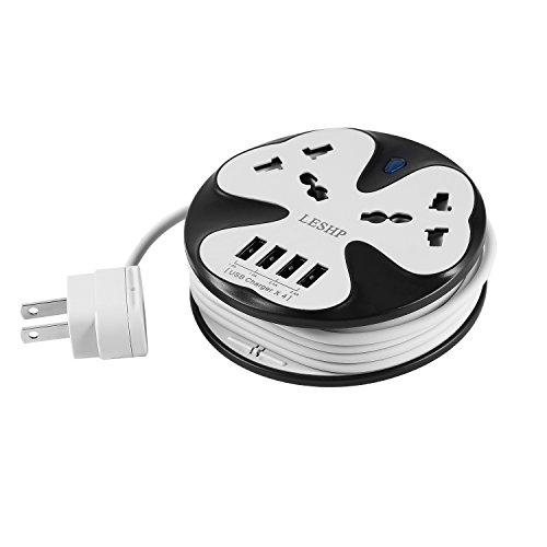 LESHP USB Power Strip White