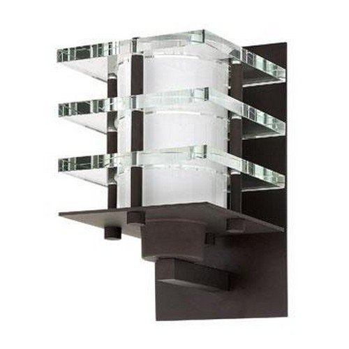 Fredrick Ramond Crystal Sconce (Fredrick Ramond FR31550VBZ One Light Wall Light with Crystal Tiering/Etched Opal Glass, Vintage)