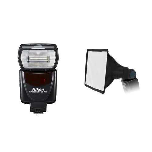 Nikon SB-700 AF Speedlight Flash for Nikon Digital SLR Cameras and Fotodiox 6x9 Foldable Flash Softbox for Speedlights Bundle