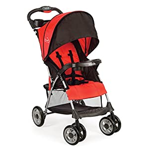 41bxI5LBguL. SS300  - Kolcraft Cloud Plus Lightweight Easy Fold Compact Travel Baby Stroller, Fire Red