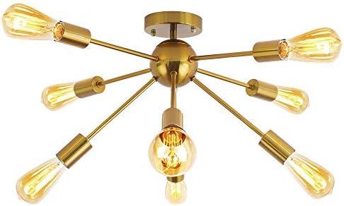 PUUPA 8 Lights Sputnik Flush Mount Ceiling Light