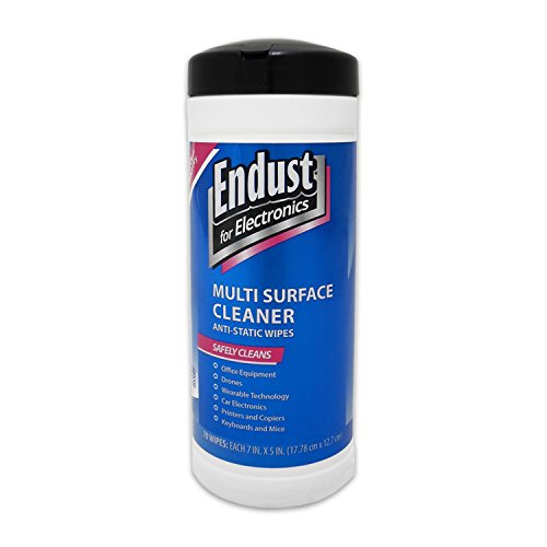 Anti Static Screen Cleaner - Endust for Electronics,  Multi-surface cleaning wipes, Great computer equipment wipes, 70 count (259000)