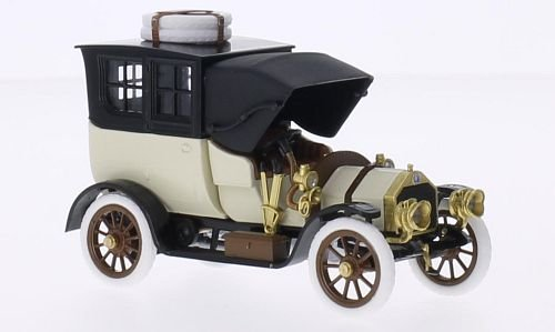 isotta-fraschini-bn-bnc-30-40-hp-light-beige-black-rhd-1909-model-car-ready-made-rio-143