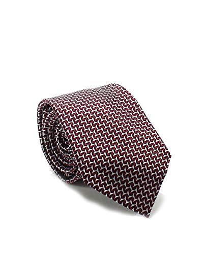 Sean John Men's Silk Geometric Neck Tie (Red/Black)