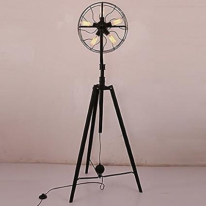 Amazon.com: Fan Floor Lamp, Simple Living Room Bedroom Iron ...