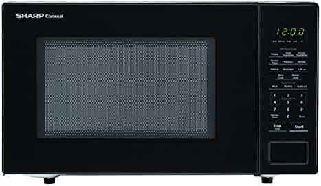 Sharp Microwaves ZSMC1131CB Sharp 1,000W Countertop Microwave Oven, 1.1 Cubic Foot, Black