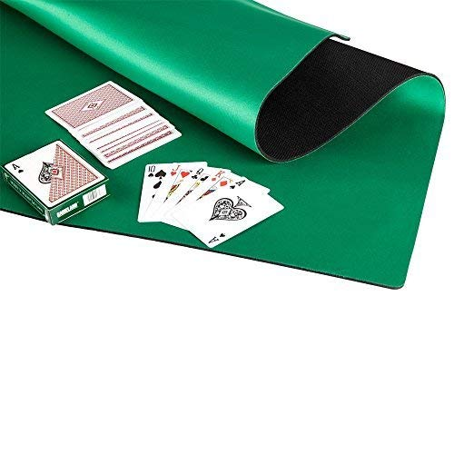 GAMELAND Anti Slip and Noise Reduction Rubber Foam Mahjong Mat Poker Mat Card Game Board Game Table Cover 32.6 x 32.6 inches- Green