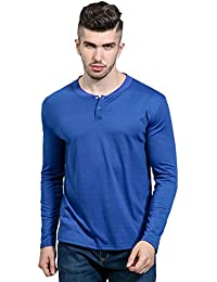 Mens Casual Long Sleeve Letter Solid Color Slim Fit T Shirt