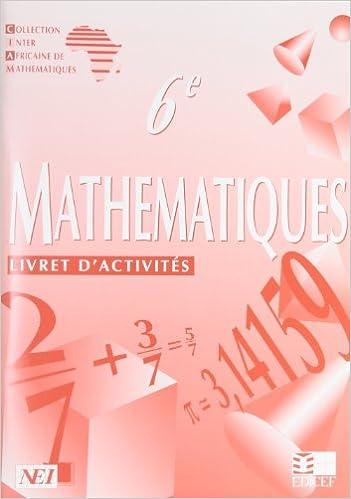 En ligne téléchargement gratuit Mathématiques, 6e. Livret d'activités epub, pdf