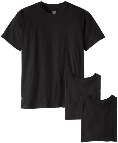Soffe Men's 3 Pack Military T-Shirts Black Medium