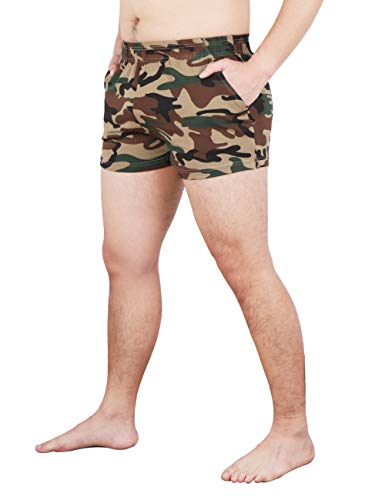 Green Walking Shorts - MUSCLE ALIVE Men's Running Shorts with Pockets 3