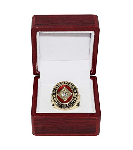 CLEVELAND BROWNS (Jim Brown) 1964 WORLD CHAMPIONS (Playing Vs. Colts) Vintage Rare Collectible High-Quality Replica NFL Football Gold Championship Ring with Cherrywood Display Box