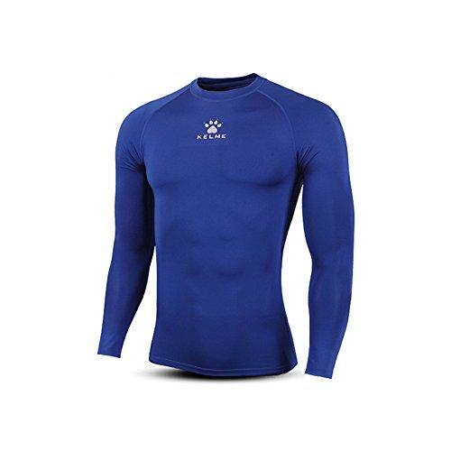 野な悪意飽和するKELME 吸汗速乾 メンズ コンプレッションウエア 男性用機能性肌着 長袖 スポーツ シャツ アンダーウェア 着圧