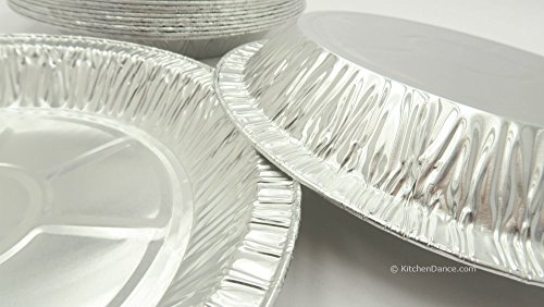 KitchenDance 9'' Medium Depth Disposable Pie Pans- 1'' deep- 24 oz. Capacity (500) by KitchenDance (Image #2)