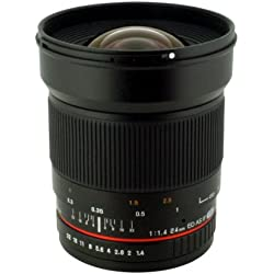 Rokinon 24mm F/1.4 Aspherical Wide Angle Lens RK24M-C